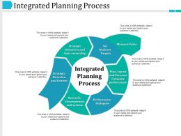 Integrated Planning Process Ppt Example