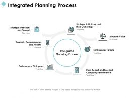 Integrated Planning Process Ppt Powerpoint Presentation File Rules