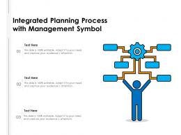 Integrated Planning Process With Management Symbol
