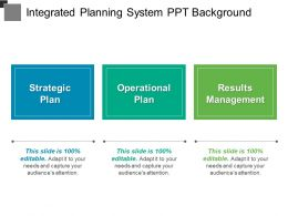 Integrated Planning System Ppt Background