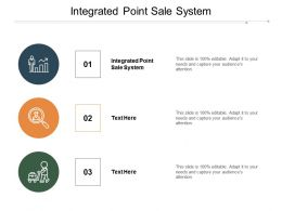 Integrated Point Sale System Ppt Powerpoint Presentation Inspiration Infographics Cpb