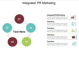 Integrated PR Marketing Ppt Powerpoint Presentation Infographics Professional Cpb