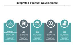Integrated Product Development Ppt Powerpoint Presentation Infographics Shapes Cpb