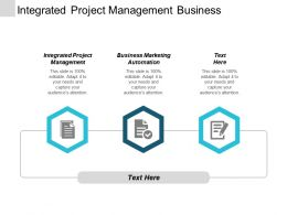 Integrated Project Management Business Marketing Automation Development Leadership Cpb