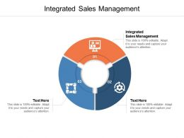 Integrated Sales Management Ppt Powerpoint Presentation Portfolio Cpb