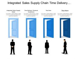Integrated Sales Supply Chain Time Delivery Products Customers