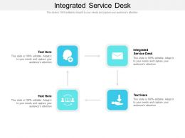 Integrated Service Desk Ppt Powerpoint Presentation Professional Themes Cpb