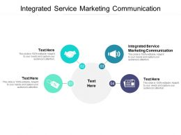 Integrated Service Marketing Communication Ppt Powerpoint Presentation Summary Cpb