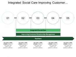 Integrated Social Care Improving Customer Relationship Management Substantial Suppliers