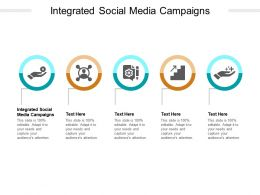 Integrated Social Media Campaigns Ppt Powerpoint Presentation Pictures Guide Cpb