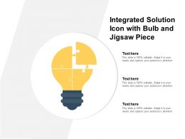 Integrated Solution Icon With Bulb And Jigsaw Piece