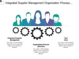 Integrated Supplier Management Organization Process Definition Integrated Teaming
