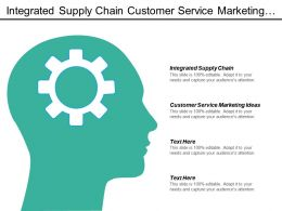 Integrated Supply Chain Customer Service Marketing Ideas Direct Marketing Cpb