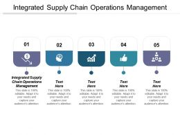 Integrated Supply Chain Operations Management Ppt Powerpoint Presentation File Gridlines Cpb
