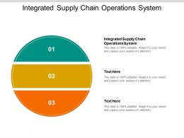 Integrated Supply Chain Operations System Ppt Powerpoint Graphics Cpb