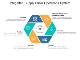 Integrated Supply Chain Operations System Ppt Powerpoint Presentation Portfolio Files Cpb