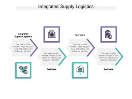 Integrated Supply Logistics Ppt Powerpoint Presentation Summary Influencers Cpb