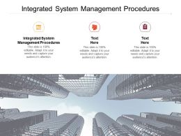 Integrated System Management Procedures Ppt Powerpoint Presentation File Cpb