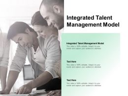 Integrated Talent Management Model Powerpoint Presentation Professional Slideshow Cpb