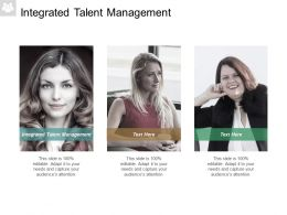 Integrated Talent Management Ppt Powerpoint Presentation Pictures Icon Cpb