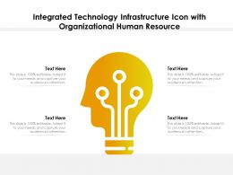 Integrated Technology Infrastructure Icon With Organizational Human Resource
