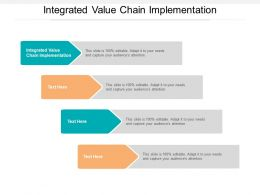 Integrated Value Chain Implementation Ppt Powerpoint Presentation Outline Design Inspiration Cpb