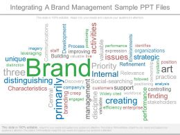 Integrating A Brand Management Sample Ppt Files