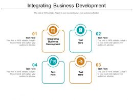 Integrating Business Development Ppt Powerpoint Presentation Portfolio Deck Cpb