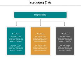Integrating Data Ppt Powerpoint Presentation Gallery Design Ideas Cpb