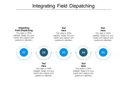 Integrating Field Dispatching Ppt Powerpoint Presentation Pictures Background Image Cpb