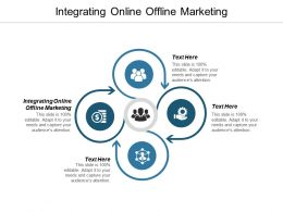 Integrating Online Offline Marketing Ppt Powerpoint Presentation Gallery Slide Cpb