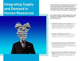 Integrating Supply And Demand In Human Resources