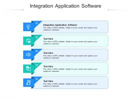 Integration Application Software Ppt Powerpoint Presentation Gallery Themes Cpb