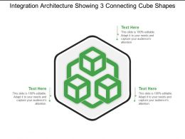 Integration Architecture Showing 3 Connecting Cube Shapes Ppt Example
