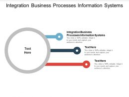 Integration Business Processes Information Systems Ppt Powerpoint Presentation Outline Visuals Cpb