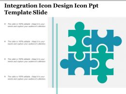 Integration Icon Design Icon Ppt Template Slide