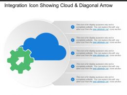 Integration Icon Showing Cloud And Diagonal Arrow