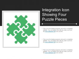 Integration Icon Showing Four Puzzle Pieces