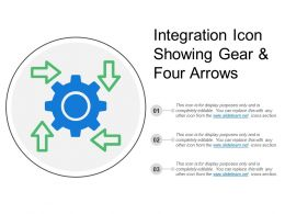 Integration Icon Showing Gear And Four Arrows