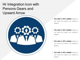 Integration Icon With Persons Gears And Upward Arrow