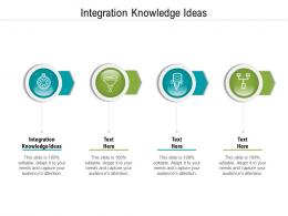 Integration Knowledge Ideas Ppt Powerpoint Presentation Influencers Cpb