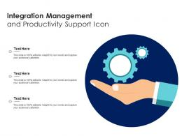 Integration Management And Productivity Support Icon