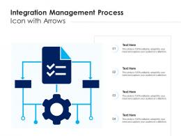 Integration Management Process Icon With Arrows