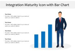 Integration Maturity Icon With Bar Chart
