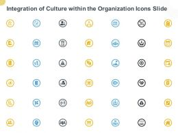 Integration Of Culture Within The Organization Icons Slide Ppt Powerpoint Presentation