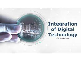 Integration Of Digital Technology Powerpoint Presentation Slides