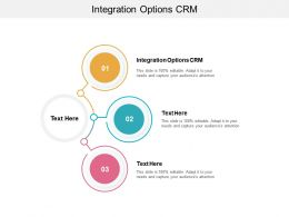 Integration Options CRM Ppt Powerpoint Presentation Icon Graphics Example Cpb