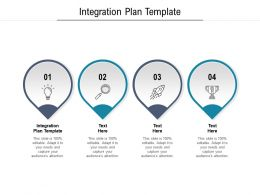 Integration Plan Template Ppt Powerpoint Presentation Inspiration File Formats Cpb