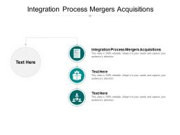Integration Process Mergers Acquisitions Ppt Powerpoint Presentation Good Cpb