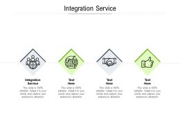 Integration Service Ppt Powerpoint Presentation Summary Diagrams Cpb
